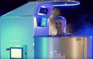 woman in cryo chamber